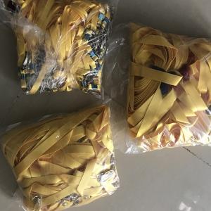 Dây đeo thẻ lụa màu vàng 1.5cm
